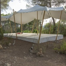 yoga sala with bedouin tent