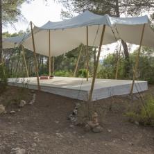 yoga sala with bedouin tent